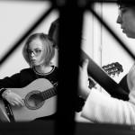 © 2019 Pablo Fernandez. La Chaux-de-Fonds, janvier 2019. Cours de guitare au collège musical.