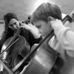 © 2019 Pablo Fernandez. La Chaux-de-Fonds, janvier 2019. Cours de violoncelle du collège musical.